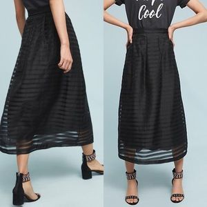 Anthropologie Daniella Midi Skirt by Della Bee